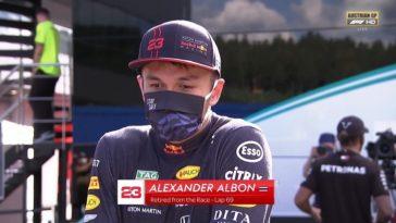 Alex Albon reageert op crash met Lewis Hamilton