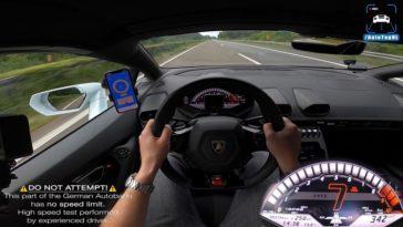 Lamborghini Huracán EVO haalt 344 kmh op Autobahn