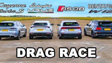 Lamborghini Urus vs Audi RSQ8 vs Bentley Bentayga vs Porsche Cayenne Turbo S