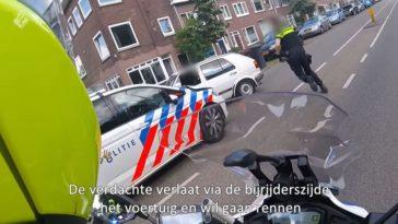 Politie achtervolgt VW Golf door Utrecht