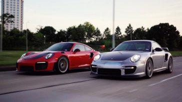 Porsche 997 GT2 RS versus 991 GT2 RS