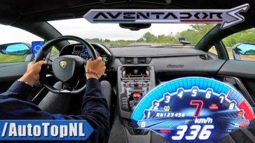 Zie de Lamborghini Aventador S naar 336 kmh accelereren