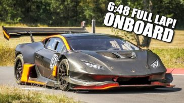 1.200 pk Lamborghini Huracán klokt Nordschleide in 6.48 min