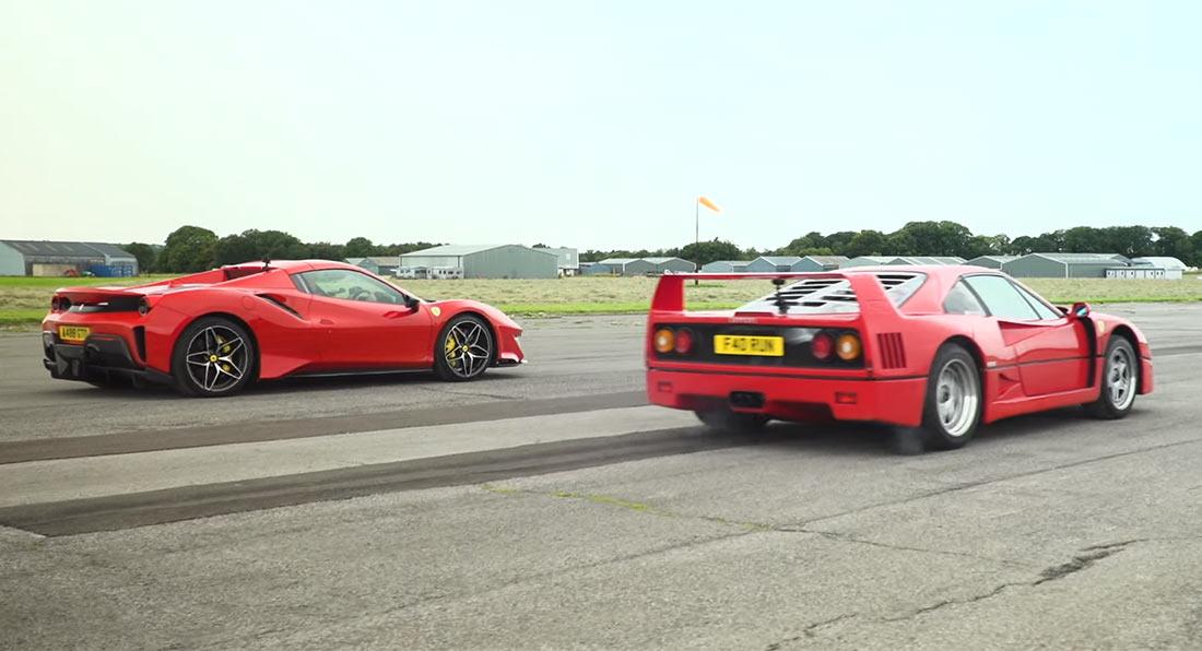 Ferrari F40 vs Ferrari 488 Pista