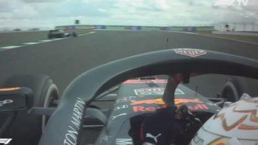 Laatste 2 ronden van Verstappen tijdens Britse Grand Prix