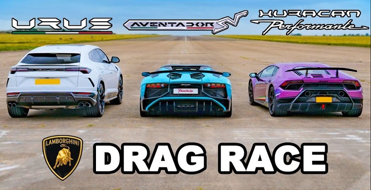 Lamborghini Urus vs Aventador SV vs Huracan Performante