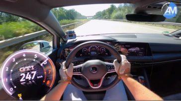 Nieuwe Golf 8 GTI 0-250 kmh acceleratie