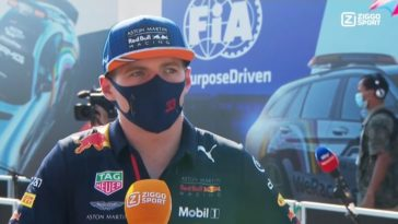 Max Verstappen is er even klaar mee na GP van Toscane