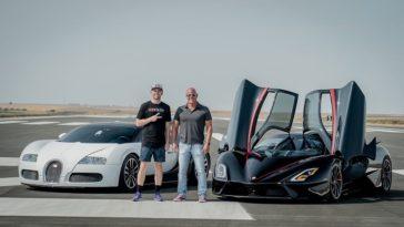 SSC Tuatara racet een Bugatti Veyron op een landingsbaan