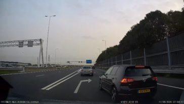 Verkeersruzie op de A29 bij Rotterdam