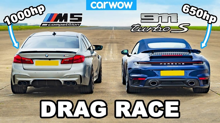 1.000 pk BMW M5 vs Porsche 992 Turbo S