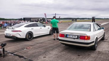 Audi 100 Quattro vs Mercedes AMG GT63s & Nissan GT-R