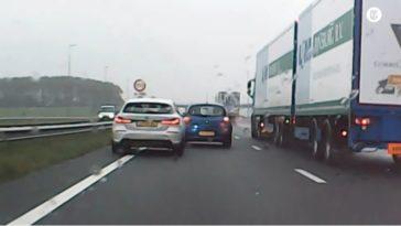 BMW-bestuurder haalt linksplakker in