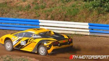 Duitser racet met Lamborghini Gallardo in autocross