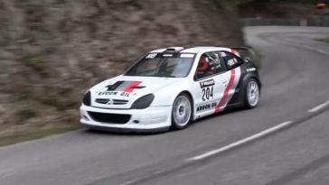 Ex-Loeb Citroen Xsara WRC is nu een Hillclimb-machine