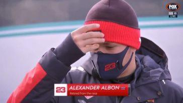 Had Albon wel echt problemen met zijn Red Bull RB16.