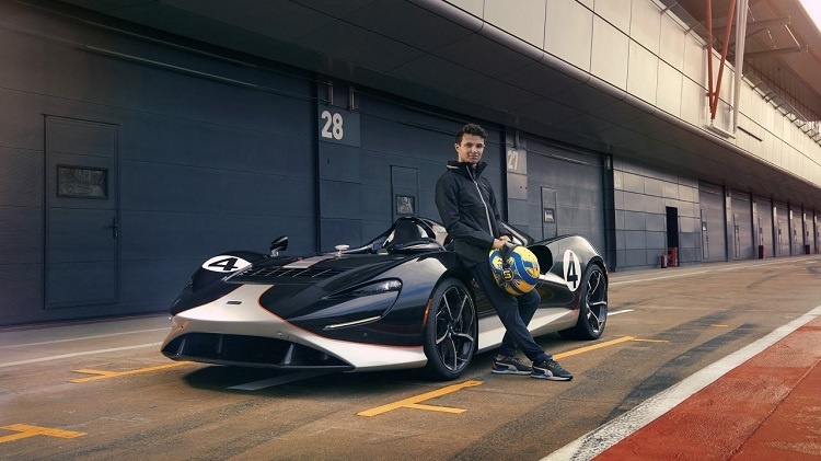 Lando Norris test McLaren Elva