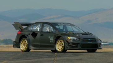 Travis Pastrana's nieuwe Subaru STI Gymkhana