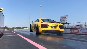 UGR Audi R8 doet de kwart mijl in 7,69 seconden!