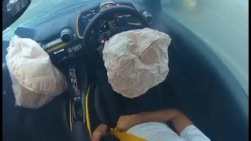 Zo werken de airbags van een Ferrari 812 Superfast
