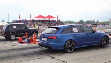 1.500 pk Lada Niva vs Audi RS3 & RS6