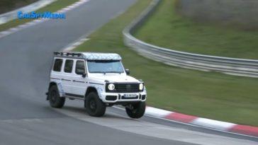 2021 Mercedes AMG G550 4x4² bezoekt de 'Ring