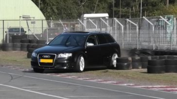 Audi RS4 crash kartbaan Berghem