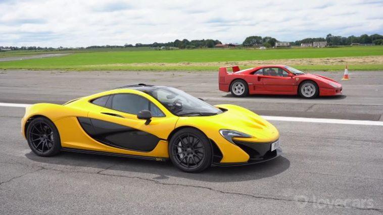 Ferrari F40 vs McLaren P1 dragrace