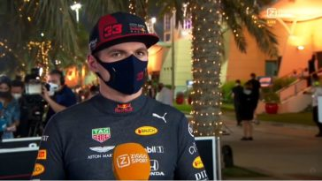Interview Max Verstappen na GP Bahrein