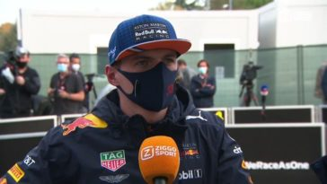 Max Verstappen over GP Emilia na klapband