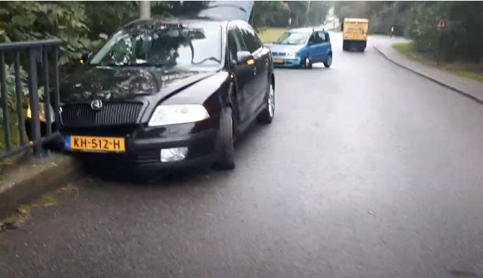 Skoda Octavia en Fiat Panda Crash