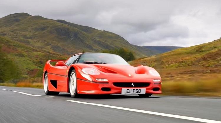 Tiff Needell test de Ferrari F50