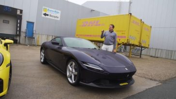 Van Stokkum test de Ferrari Roma in Nederland