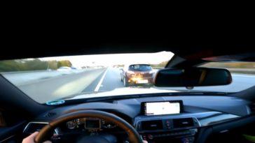 BMW M4 moet vol in de remmen bij 280 kmh