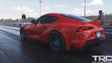 950 pk Supra Mk5 klokt 8.78 sec op de kwart mijl