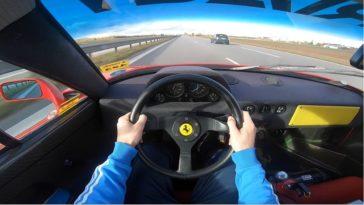 Ferrari F40 met Tubi Inconel-uitlaat zoekt de Autobahn op