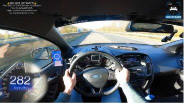 Getunede Ford Focus RS haalt 284 kmh