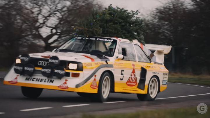 Met een Audi Quattro S1 kun je prima een kerstboom vervoeren