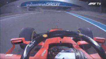 Sebastian Vettel zingt een liedje na laatste race voor Ferrari