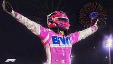 Sergio Perez wint GP van Sakhir