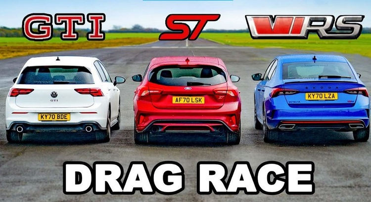 VW Golf GTI Mk8 vs Ford Focus ST vs Skoda Octavia vRS