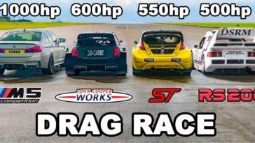 1.000 pk BMW M5 vs Rallycross-auto's