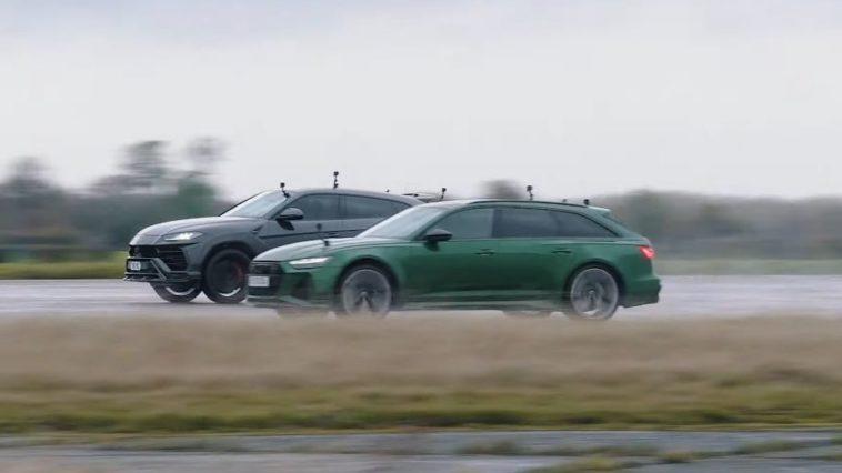 Lamborghini Urus vs Audi RS6 in de regen
