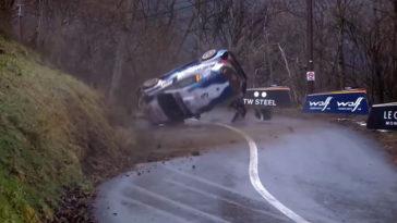 Teemu Suninen crasht in eerste stage Rallye Monte-Carlo