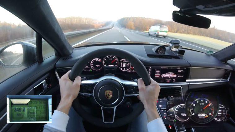 Porsche Panamera GTS blaast met 350 kmh langs politie