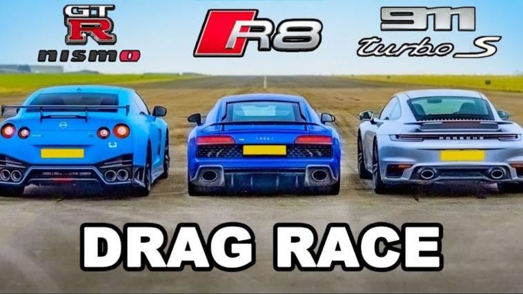 GT-R NISMO vs 911 Turbo S vs R8 V10 Performance