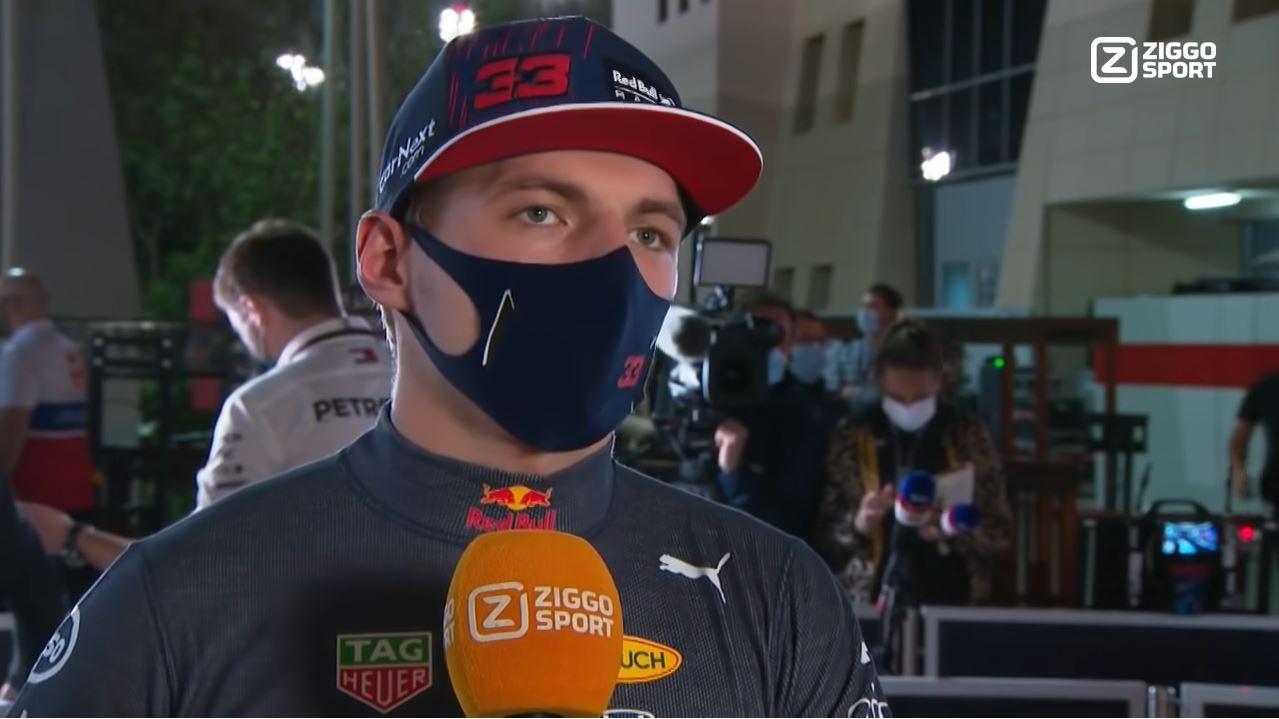 Interview met Max Verstappen na GP Bahrein 2021