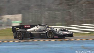 Zie de Glickenhaus 007 Le Mans Hypercar in actie