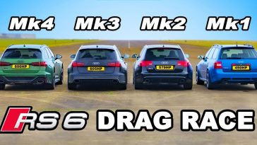 Alle generaties Audi RS6 in een dragrace