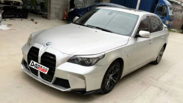 BMW E60 5-Serie met grote grill